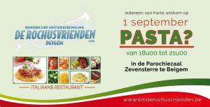 1 september, Pasta! @ Parochiezaal beigem | Grimbergen | Vlaanderen | België